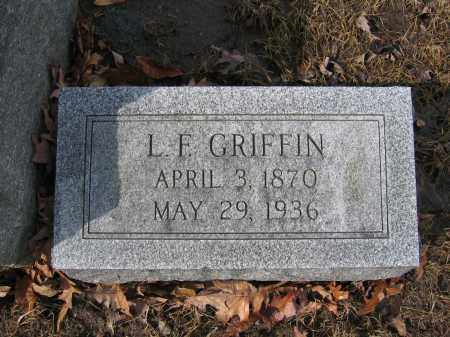 GRIFFIN, L.F. - Union County, Ohio | L.F. GRIFFIN - Ohio Gravestone Photos
