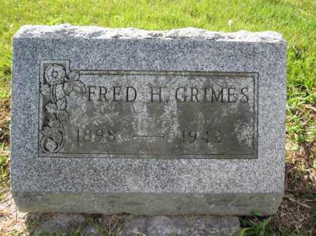 GRIMES, FRED H. - Union County, Ohio | FRED H. GRIMES - Ohio Gravestone Photos