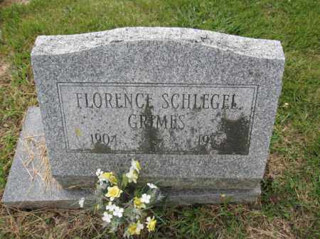 GRIMES, FLORENCE SCHLEGEL - Union County, Ohio | FLORENCE SCHLEGEL GRIMES - Ohio Gravestone Photos