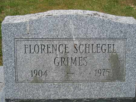 SCHLEGEL GRIMES, FLORENCE - Union County, Ohio | FLORENCE SCHLEGEL GRIMES - Ohio Gravestone Photos