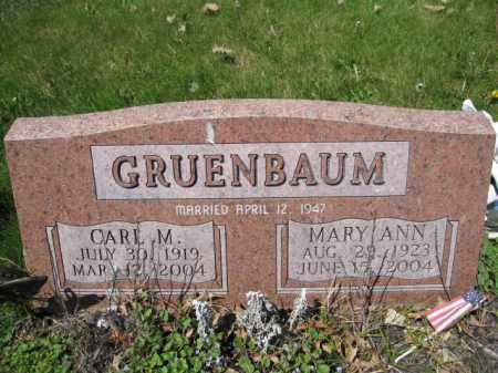 GRUENBAUM, MARY ANN - Union County, Ohio | MARY ANN GRUENBAUM - Ohio Gravestone Photos