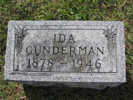 GUNDERMAN, IDA - Union County, Ohio | IDA GUNDERMAN - Ohio Gravestone Photos
