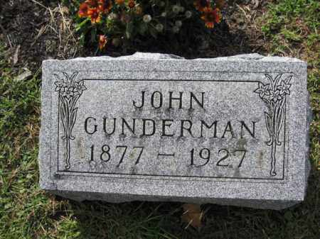 GUNDERMAN, JOHN - Union County, Ohio | JOHN GUNDERMAN - Ohio Gravestone Photos