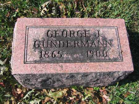GUNDERMANN, GEORGE J. - Union County, Ohio | GEORGE J. GUNDERMANN - Ohio Gravestone Photos