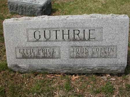 GUTHRIE, JOHN COFFIN - Union County, Ohio | JOHN COFFIN GUTHRIE - Ohio Gravestone Photos