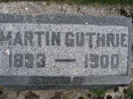 GUTHRIE, MARTIN - Union County, Ohio | MARTIN GUTHRIE - Ohio Gravestone Photos