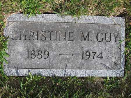 GUY, CHRISTINE M. - Union County, Ohio | CHRISTINE M. GUY - Ohio Gravestone Photos