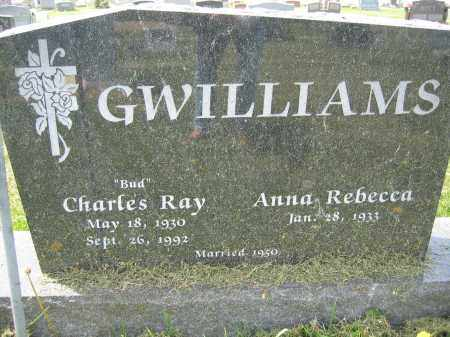 GWILLIAMS, ANNA REBECCA - Union County, Ohio | ANNA REBECCA GWILLIAMS - Ohio Gravestone Photos