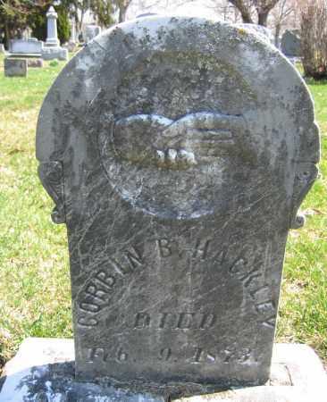 HACKLEY, CORBIN B. - Union County, Ohio | CORBIN B. HACKLEY - Ohio Gravestone Photos