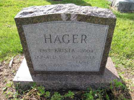 HAGER, KRISTA - Union County, Ohio | KRISTA HAGER - Ohio Gravestone Photos