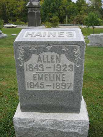 HAINES, ALLEN - Union County, Ohio | ALLEN HAINES - Ohio Gravestone Photos
