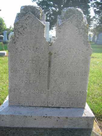 HAINES, ANNIE - Union County, Ohio | ANNIE HAINES - Ohio Gravestone Photos