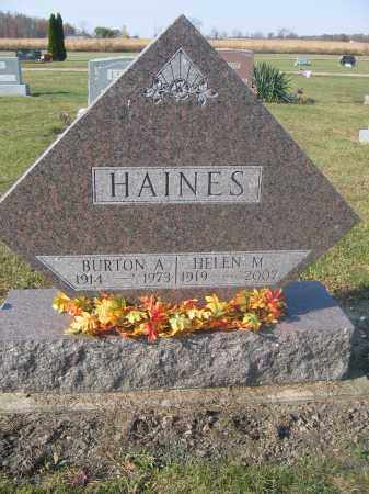 HAINES, BURTON A. - Union County, Ohio | BURTON A. HAINES - Ohio Gravestone Photos