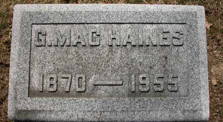 HAINES, G. MAC - Union County, Ohio | G. MAC HAINES - Ohio Gravestone Photos