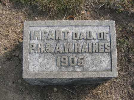 HAINES, INFANT DAUGHTER - Union County, Ohio | INFANT DAUGHTER HAINES - Ohio Gravestone Photos