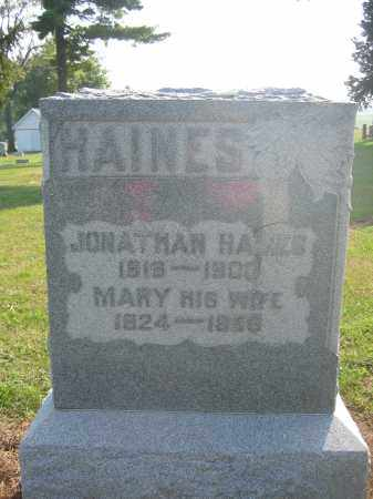 HAINES, MARY - Union County, Ohio | MARY HAINES - Ohio Gravestone Photos