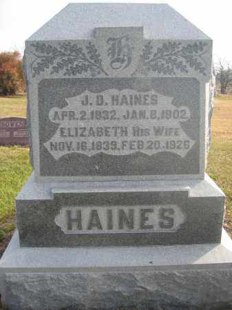 HAINES, J.D. - Union County, Ohio | J.D. HAINES - Ohio Gravestone Photos