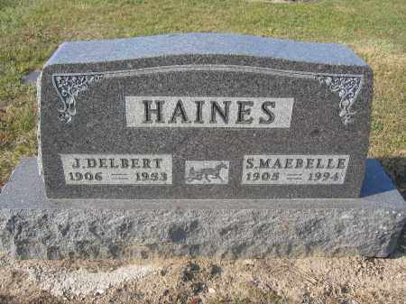HAINES, S. MAEBELLE - Union County, Ohio | S. MAEBELLE HAINES - Ohio Gravestone Photos
