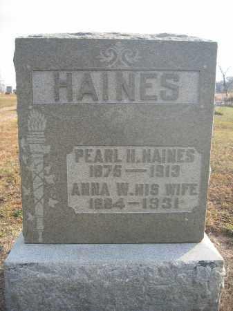 HAINES, ANNA W. - Union County, Ohio | ANNA W. HAINES - Ohio Gravestone Photos