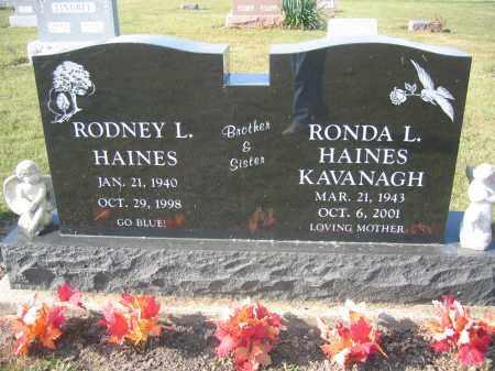 HAINES, RODNEY L - Union County, Ohio | RODNEY L HAINES - Ohio Gravestone Photos