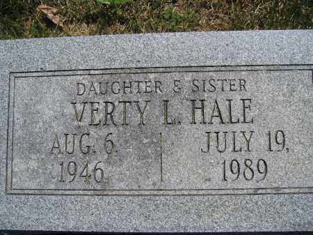 HALE, VERTY L. - Union County, Ohio | VERTY L. HALE - Ohio Gravestone Photos