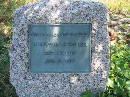 HALLER, CHRISTIAN E. - Union County, Ohio | CHRISTIAN E. HALLER - Ohio Gravestone Photos