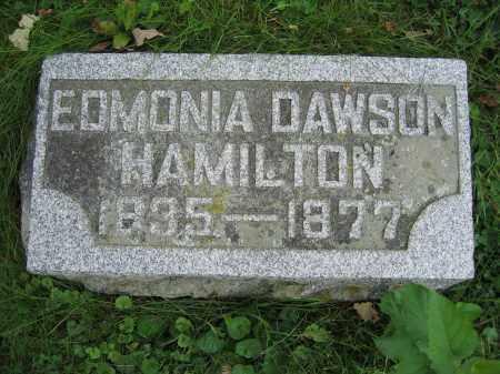 HAMILTON, EDMONIA DAWSON - Union County, Ohio | EDMONIA DAWSON HAMILTON - Ohio Gravestone Photos