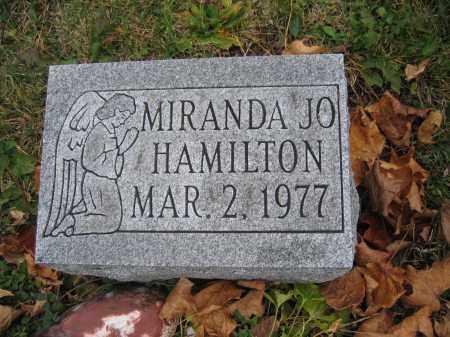 HAMILTON, MIRANDA JO - Union County, Ohio | MIRANDA JO HAMILTON - Ohio Gravestone Photos