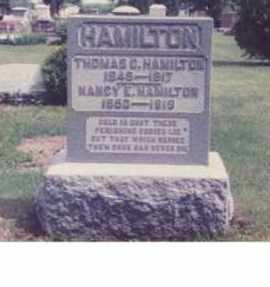 VANCE HAMILTON, NANCY EVELINE - Union County, Ohio | NANCY EVELINE VANCE HAMILTON - Ohio Gravestone Photos
