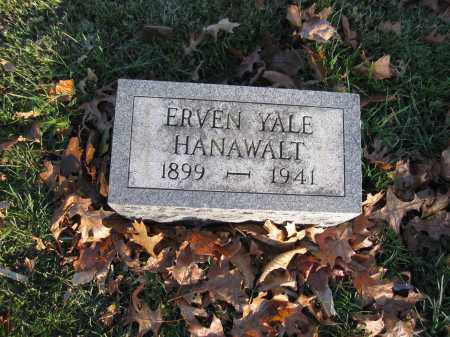HANAWALT, ERVEN YALE - Union County, Ohio | ERVEN YALE HANAWALT - Ohio Gravestone Photos
