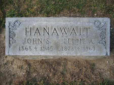 HANAWALT, LETTIE A. - Union County, Ohio | LETTIE A. HANAWALT - Ohio Gravestone Photos