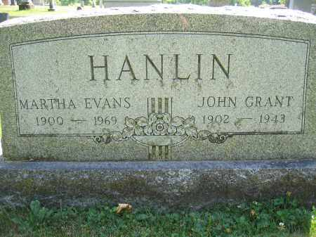 HANLIN, MARTHA EVANS - Union County, Ohio | MARTHA EVANS HANLIN - Ohio Gravestone Photos