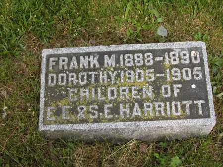 HARRIOTT, FRANK M. - Union County, Ohio | FRANK M. HARRIOTT - Ohio Gravestone Photos