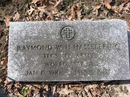 HASSELBRING, RAYMOND W.H. - Union County, Ohio | RAYMOND W.H. HASSELBRING - Ohio Gravestone Photos
