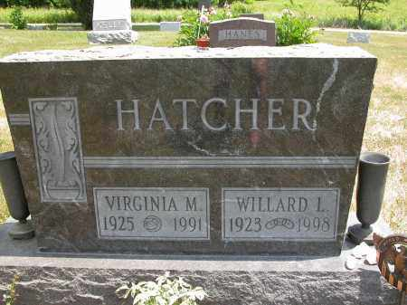 HATCHER, VIRGINIA M. - Union County, Ohio | VIRGINIA M. HATCHER - Ohio Gravestone Photos