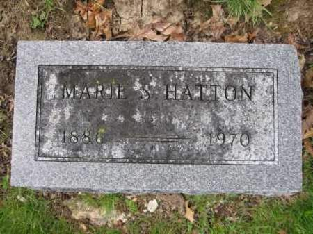 HATTON, MARIE S. - Union County, Ohio | MARIE S. HATTON - Ohio Gravestone Photos