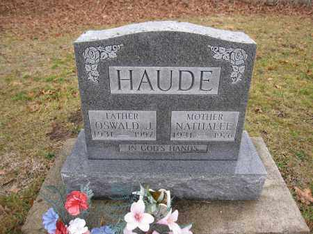 HAUDE, NATHALEE EVANS - Union County, Ohio | NATHALEE EVANS HAUDE - Ohio Gravestone Photos