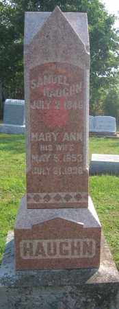 HAUGHN, MARY ANN - Union County, Ohio | MARY ANN HAUGHN - Ohio Gravestone Photos