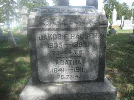 HAUSER, JAKOB F. - Union County, Ohio | JAKOB F. HAUSER - Ohio Gravestone Photos