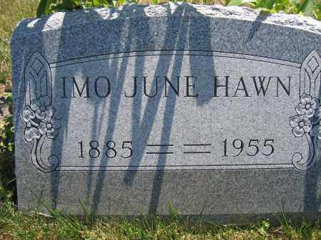 HAWN, IMO JUNE - Union County, Ohio | IMO JUNE HAWN - Ohio Gravestone Photos