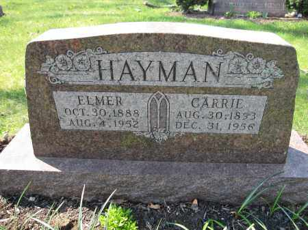 HAYMAN, CARRIE - Union County, Ohio | CARRIE HAYMAN - Ohio Gravestone Photos