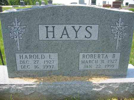 HAYS, HAROLD L. - Union County, Ohio | HAROLD L. HAYS - Ohio Gravestone Photos