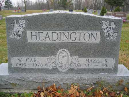 HEADINGTON, W. CARL - Union County, Ohio | W. CARL HEADINGTON - Ohio Gravestone Photos