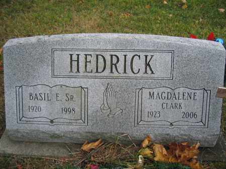 HEDRICK, SR., BASIL E. - Union County, Ohio | BASIL E. HEDRICK, SR. - Ohio Gravestone Photos