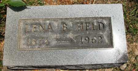 HELD, LENA B. - Union County, Ohio   LENA B. HELD - Ohio Gravestone Photos