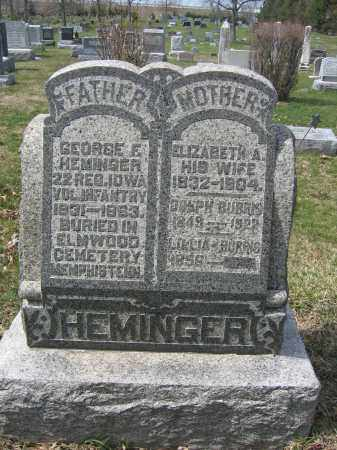 HEMINGER, ELIZABETH A. - Union County, Ohio | ELIZABETH A. HEMINGER - Ohio Gravestone Photos