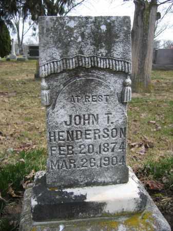 HENDERSON, JOHN T. - Union County, Ohio | JOHN T. HENDERSON - Ohio Gravestone Photos