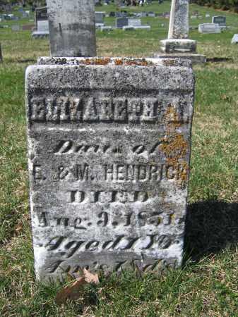 HENDRICK, ELIZABETH A. - Union County, Ohio | ELIZABETH A. HENDRICK - Ohio Gravestone Photos