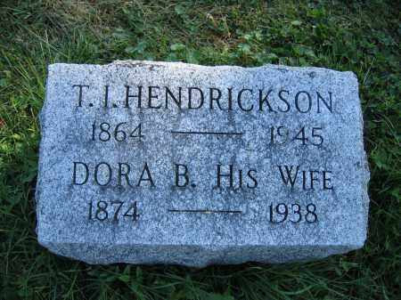 HENDRICKSON, T.I. - Union County, Ohio | T.I. HENDRICKSON - Ohio Gravestone Photos