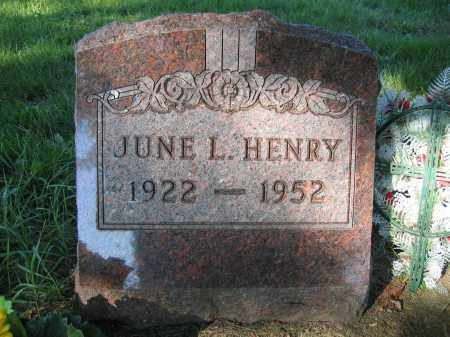 HENRY, JUNE L. - Union County, Ohio   JUNE L. HENRY - Ohio Gravestone Photos